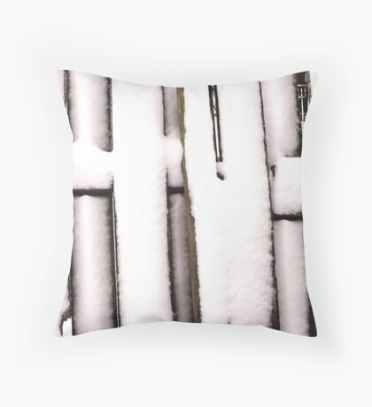 Cold Fence Throw Pillow