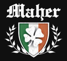 Maher Family Shamrock Crest (vintage distressed) Kids Clothes