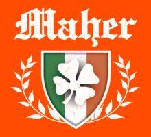 Maher Family Shamrock Crest (vintage distressed) Kids Tee