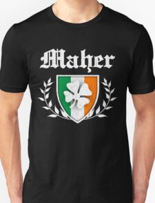 Maher Family Shamrock Crest (vintage distressed) T-Shirt