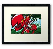 Scizor | Bug Bite Framed Print