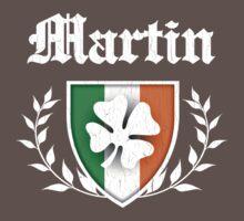 Martin Family Shamrock Crest (vintage distressed) Kids Clothes