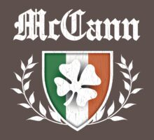 McCann Family Shamrock Crest (vintage distressed) One Piece - Short Sleeve