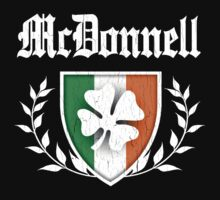 McDonnell Family Shamrock Crest (vintage distressed) by robotface