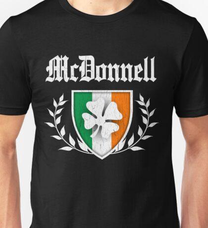 McDonnell Family Shamrock Crest (vintage distressed) Unisex T-Shirt