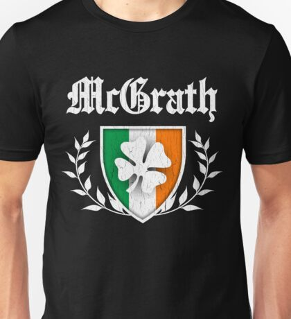 McGrath Family Shamrock Crest (vintage distressed) Unisex T-Shirt