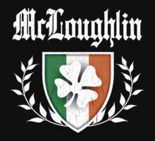 McLoughlin Family Shamrock Crest (vintage distressed) Kids Clothes