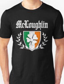 McLoughlin Family Shamrock Crest (vintage distressed) Unisex T-Shirt