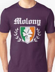 Molony Family Shamrock Crest (vintage distressed) Unisex T-Shirt