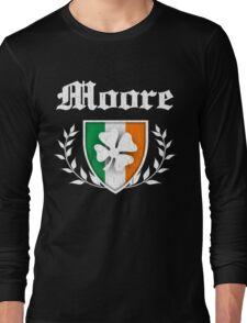 Moore Family Shamrock Crest (vintage distressed) Long Sleeve T-Shirt