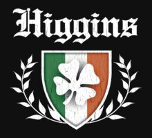 Higgins Family Shamrock Crest (vintage distressed) Kids Clothes