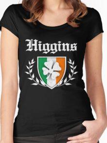 Higgins Family Shamrock Crest (vintage distressed) Women's Fitted Scoop T-Shirt