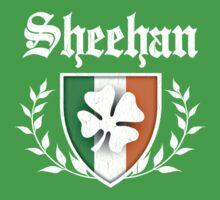 Sheehan Family Shamrock Crest (vintage distressed) Kids Tee