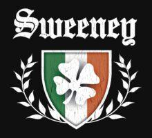 Sweeney Family Shamrock Crest (vintage distressed) Kids Clothes
