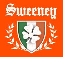 Sweeney Family Shamrock Crest (vintage distressed) Kids Tee