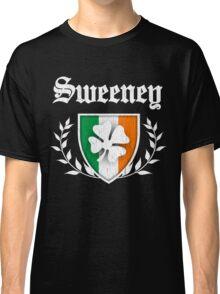 Sweeney Family Shamrock Crest (vintage distressed) Classic T-Shirt