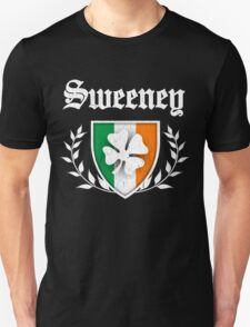 Sweeney Family Shamrock Crest (vintage distressed) T-Shirt