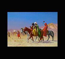 Arabs Crossing the Desert by cammisacam