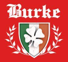Burke Family Shamrock Crest (vintage distressed) One Piece - Short Sleeve