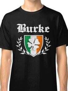 Burke Family Shamrock Crest (vintage distressed) Classic T-Shirt