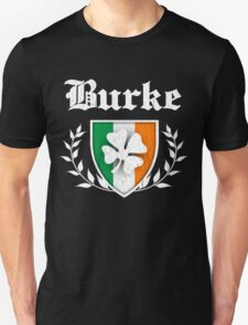 Burke Family Shamrock Crest (vintage distressed) T-Shirt