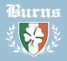 Burns Family Shamrock Crest (vintage distressed) Kids Tee