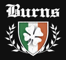Burns Family Shamrock Crest (vintage distressed) Kids Clothes