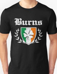 Burns Family Shamrock Crest (vintage distressed) T-Shirt
