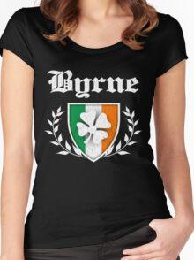 Byrne Family Shamrock Crest (vintage distressed) Women's Fitted Scoop T-Shirt