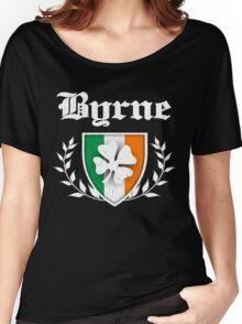 Byrne Family Shamrock Crest (vintage distressed) Women's Relaxed Fit T-Shirt