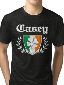 Casey Family Shamrock Crest (vintage distressed) Tri-blend T-Shirt