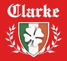 Clarke Family Shamrock Crest (vintage distressed) One Piece - Short Sleeve