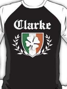 Clarke Family Shamrock Crest (vintage distressed) T-Shirt