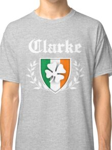 Clarke Family Shamrock Crest (vintage distressed) Classic T-Shirt
