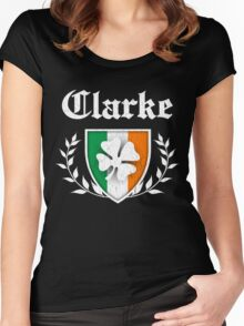 Clarke Family Shamrock Crest (vintage distressed) Women's Fitted Scoop T-Shirt