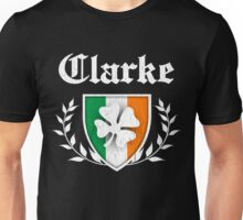 Clarke Family Shamrock Crest (vintage distressed) Unisex T-Shirt