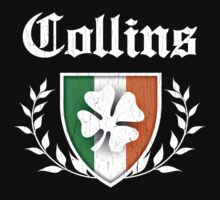 Collins Family Shamrock Crest (vintage distressed) Kids Clothes