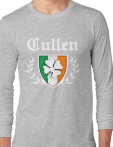 Cullen Family Shamrock Crest (vintage distressed) Long Sleeve T-Shirt