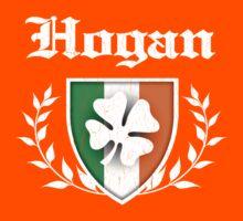 Hogan Family Shamrock Crest (vintage distressed) Kids Tee