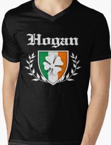 Hogan Family Shamrock Crest (vintage distressed) Mens V-Neck T-Shirt