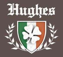 Hughes Family Shamrock Crest (vintage distressed) One Piece - Short Sleeve