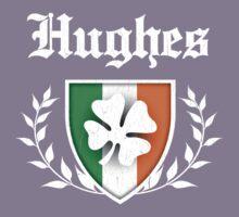 Hughes Family Shamrock Crest (vintage distressed) Kids Tee