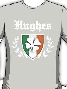 Hughes Family Shamrock Crest (vintage distressed) T-Shirt