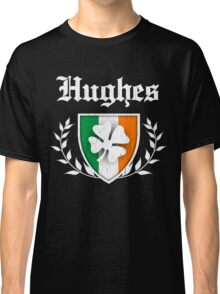 Hughes Family Shamrock Crest (vintage distressed) Classic T-Shirt