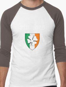 Hughes Family Shamrock Crest (vintage distressed) Men's Baseball ¾ T-Shirt