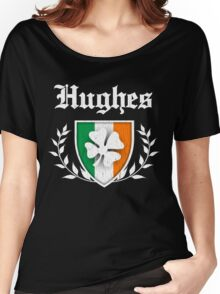 Hughes Family Shamrock Crest (vintage distressed) Women's Relaxed Fit T-Shirt