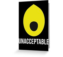 'Lemongrab UNACCEPTABLE': Adventure Time Inspired Design - Minimalist Geek Chic Greeting Card
