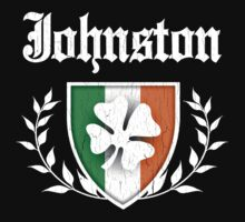Johnston Family Shamrock Crest (vintage distressed) Kids Clothes
