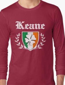 Keane Family Shamrock Crest (vintage distressed) Long Sleeve T-Shirt
