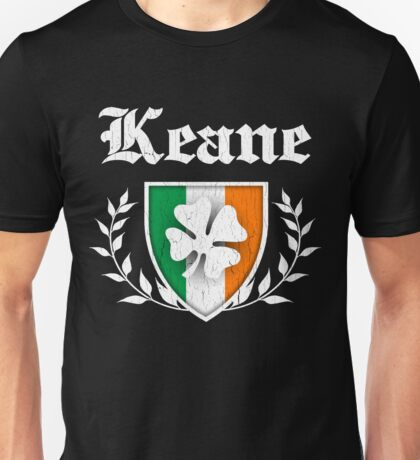 Keane Family Shamrock Crest (vintage distressed) Unisex T-Shirt